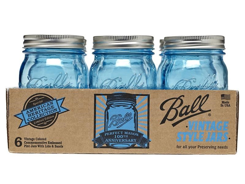 blue mason jars - it all started with paint