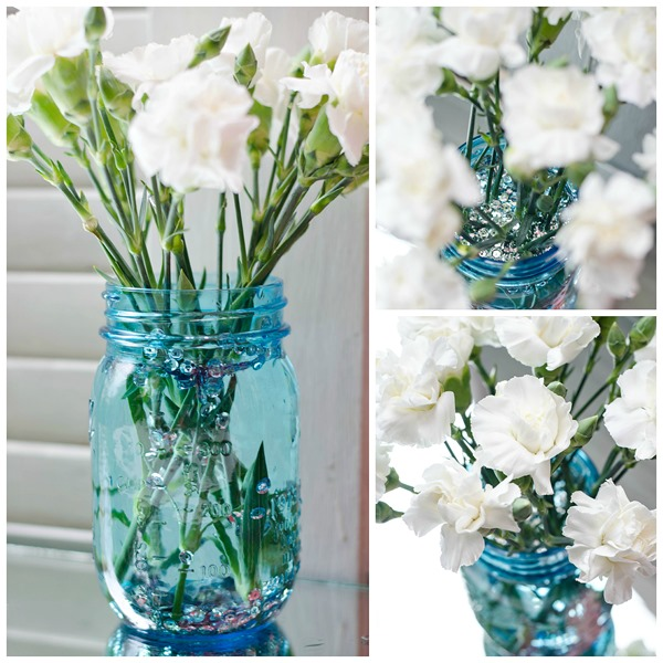 blue-mason-jar-white-flowers