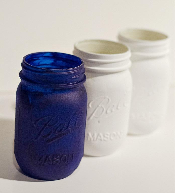 How To Make American Flag Red White Blue Mason Jars