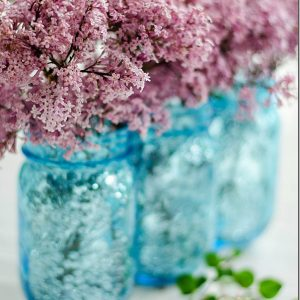 sequin mason jar vase how to