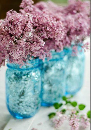 sequin mason jar vase how to