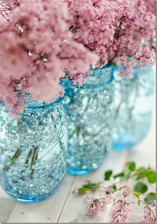 Sequin Mason Jar Vase