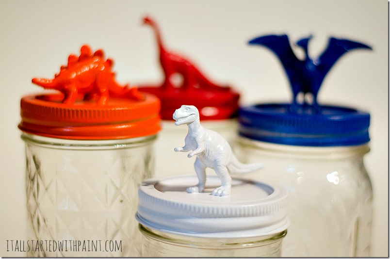 dinosaur-topped-mason-jars