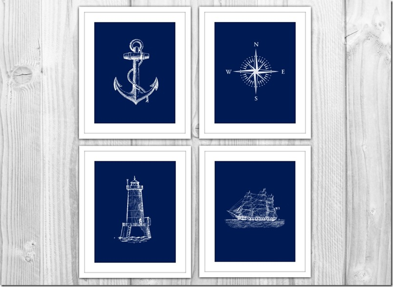 navy white nautical prints it all started with paint