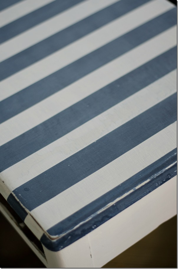 how to paint stripes on table top-11