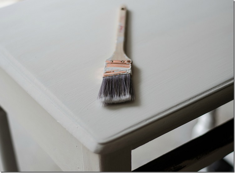 how to paint stripes on table top