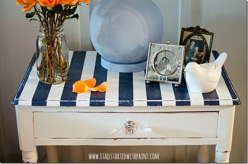 how to paint stripes on table