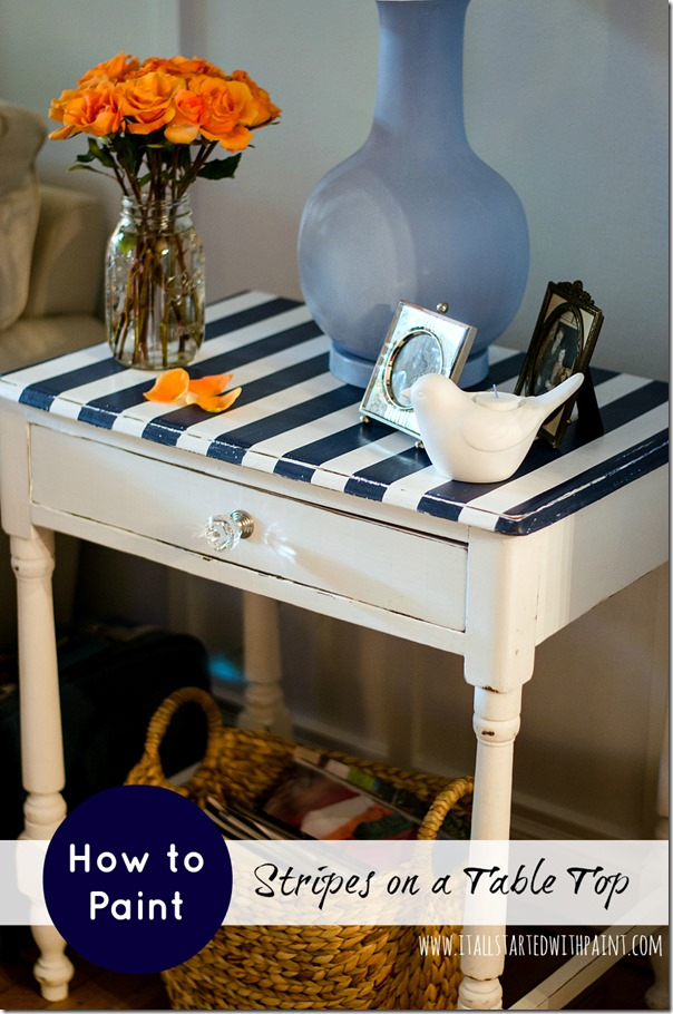 Elegant How To Paint Stripes On Top Of Table