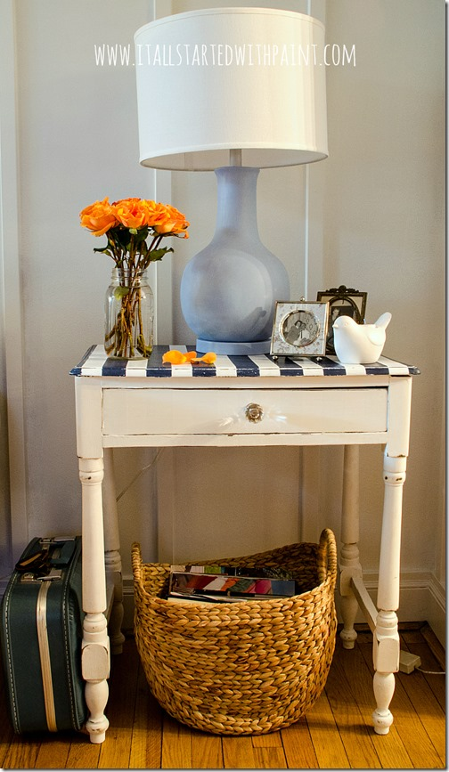 Table With Painted Stripes