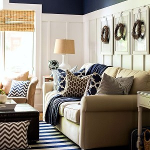 Im embracing navy amp brown for my fall decor thishellip
