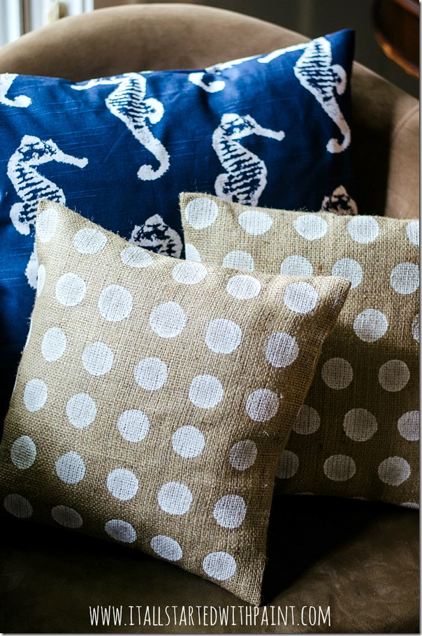 Burlap-Pillow-Painted-Polka-Dot-How-To-Make-2 watermarked