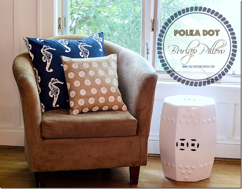 Burlap-Pillow-Painted-Polka-Dot-How-To-Make