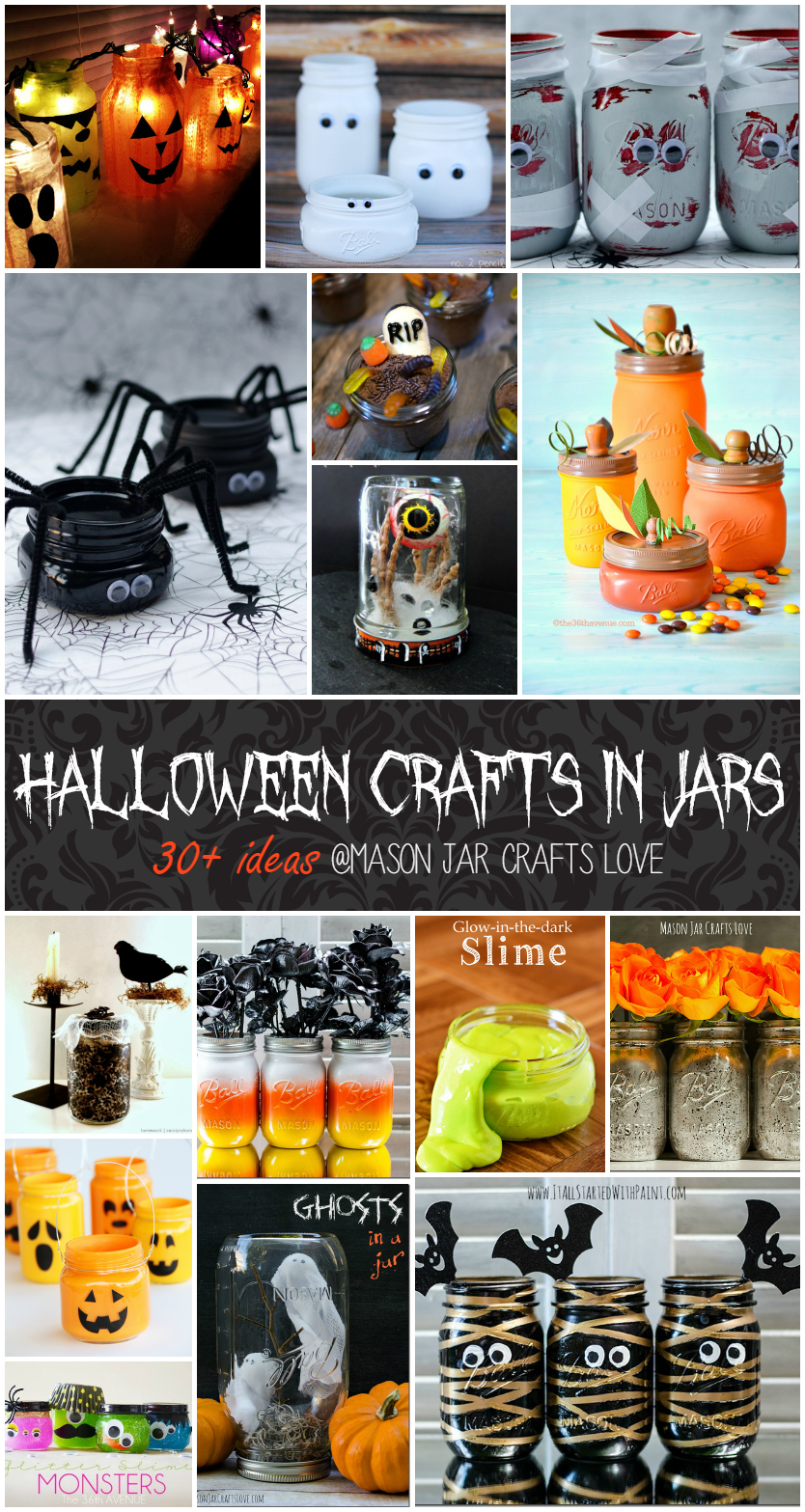 Mason Jar Craft Ideas for Halloween