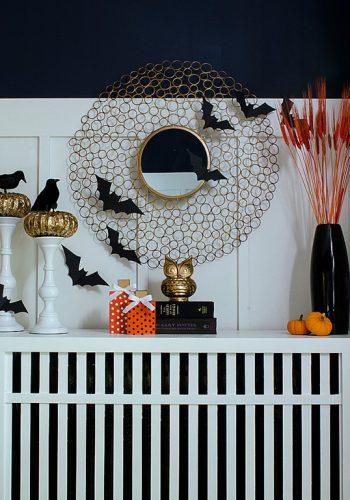 Halloween-mantel-owl-bats