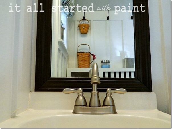 Powder Room Makeover After Faucet