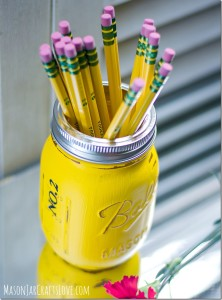 mason jar teacher gift pencil holder