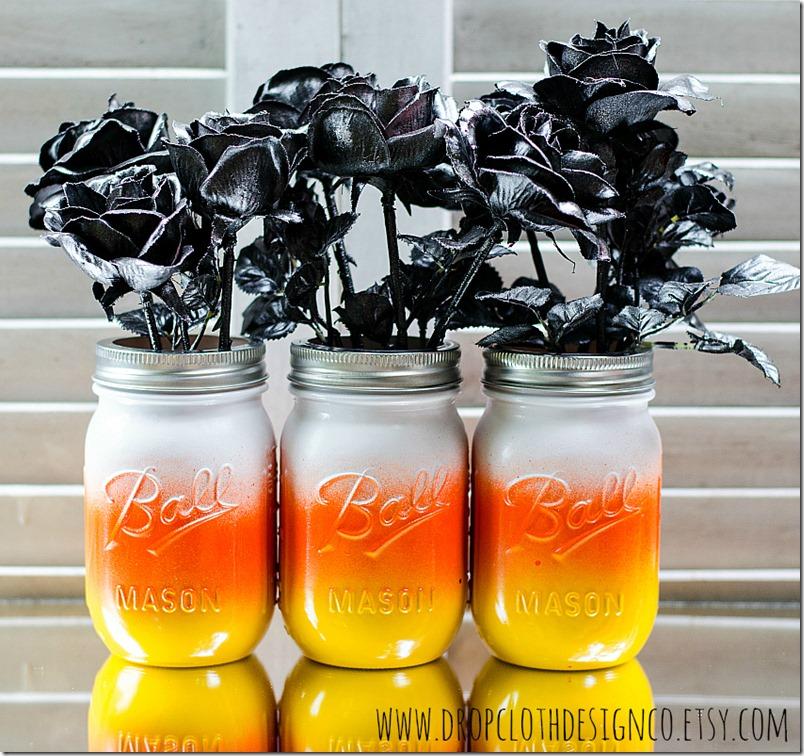 candy-corn-mason-jars-for-Halloween
