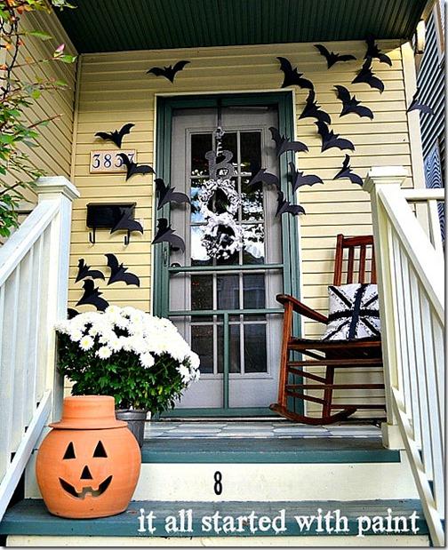 halloween-bats-on-door 2