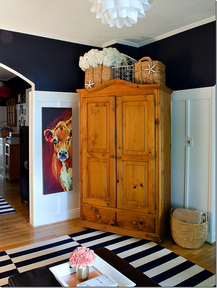 navy white living room board batten reveal armoire. Black Bedroom Furniture Sets. Home Design Ideas