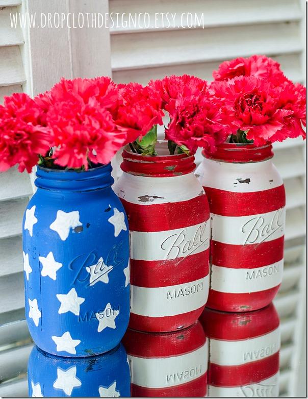 painted-mason-jars-american-flag-2