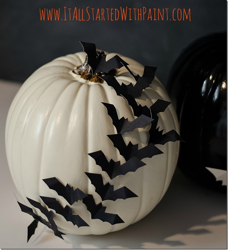 Bats-On-Pumpkin-No-Carve-Craft-Idea