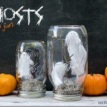 Halloween Craft with Mason Jars