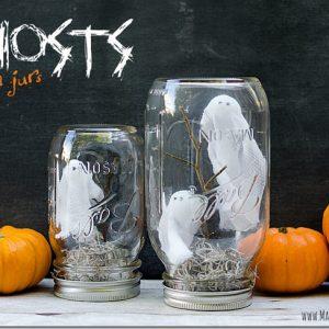Halloween Craft: Ghosts in a Jar