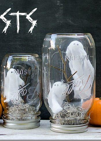 Halloween Craft with Mason Jars