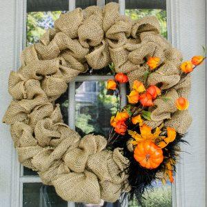 Burlap Wreath for Fall