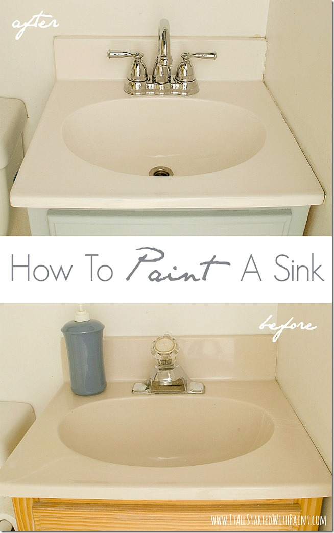 How To Paint A Sink A Giveaway It All Started With Paint