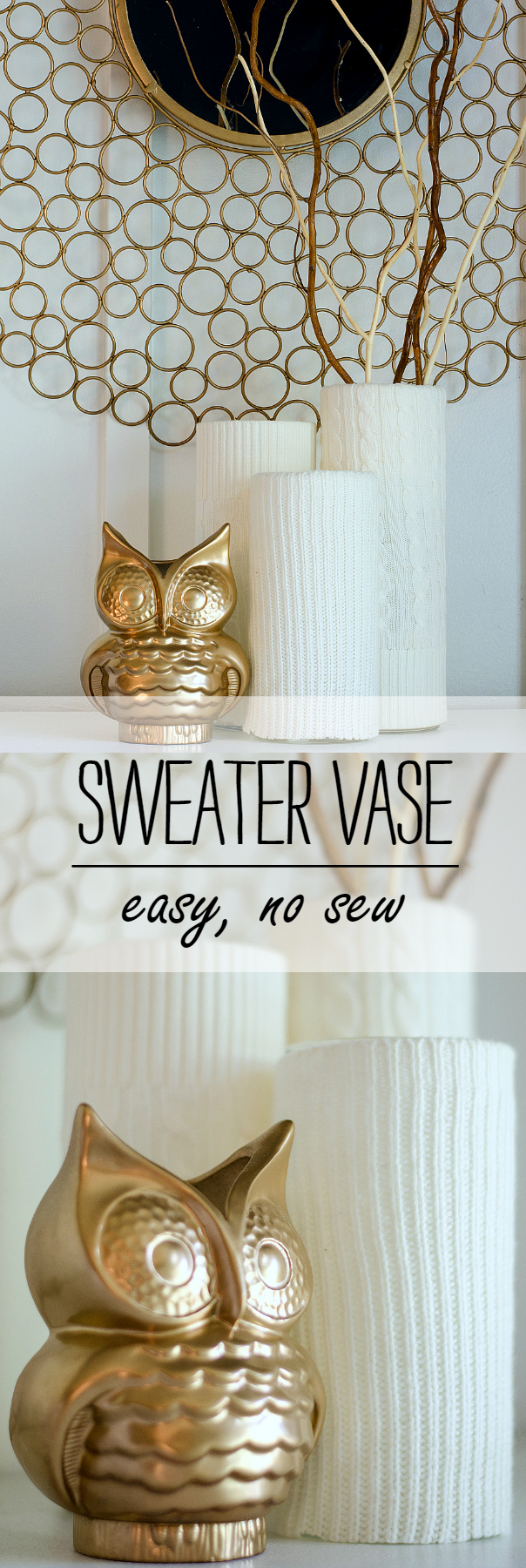 Winter Decor Idea: Easy Sweater Vase