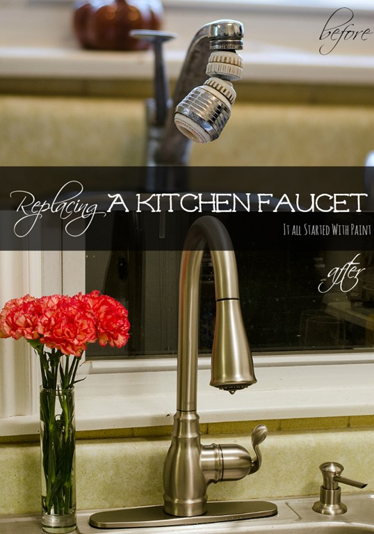 how to install a kitchen faucet it all started with paint. Black Bedroom Furniture Sets. Home Design Ideas