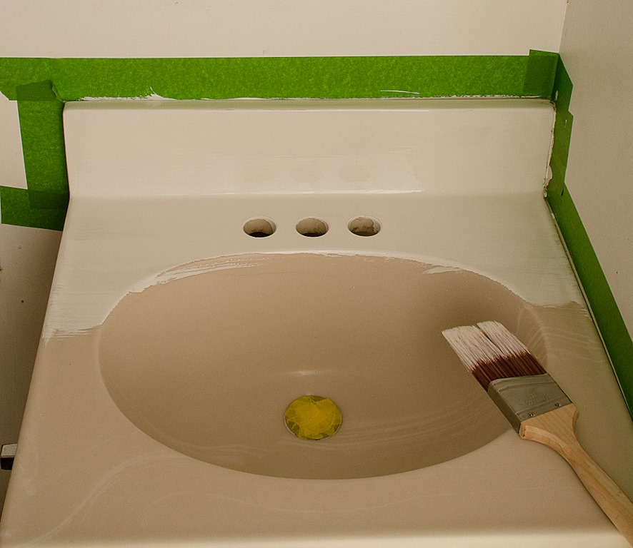 How To Paint A Sink 10