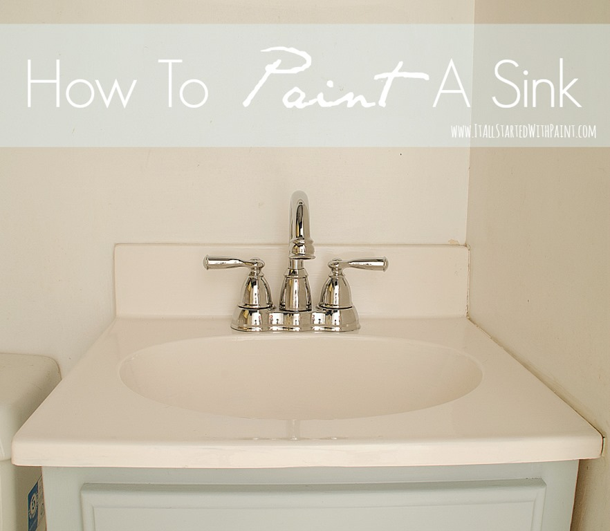 And if i had been blogging the first time i painted a sink i would - How To Paint A Sink