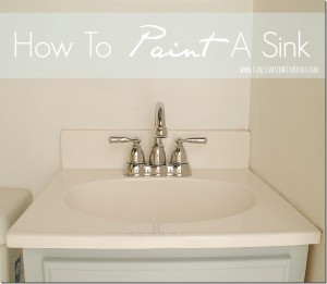 how to paint a sink