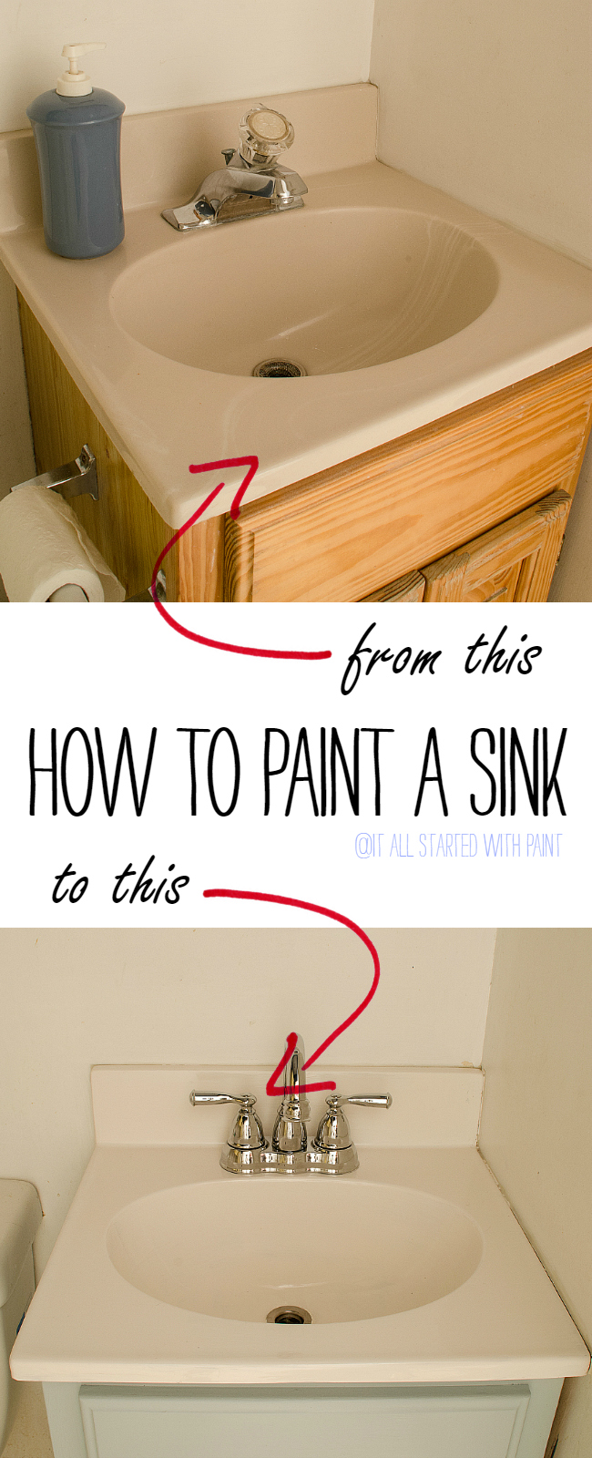 Paint A Sink: How To Paint A Sink Tutorial