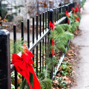 Because nothing says Christmas like greens on iron fences withhellip