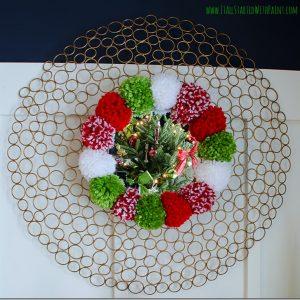 Pom Pom Wreath Mirror