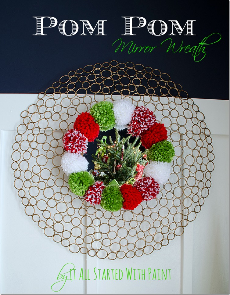Pom-Pom-Wreath-Holiday-Mantel-9 2