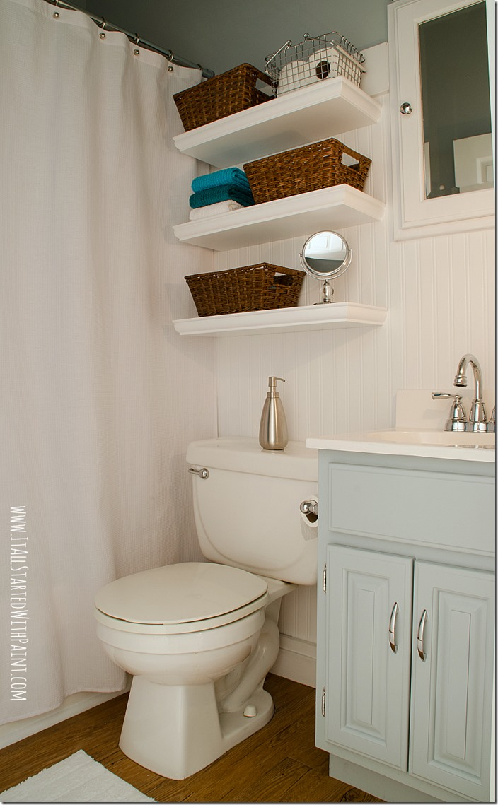 charming blue bathroom color schemes | Blue and White Bathroom: Small Space Solutions