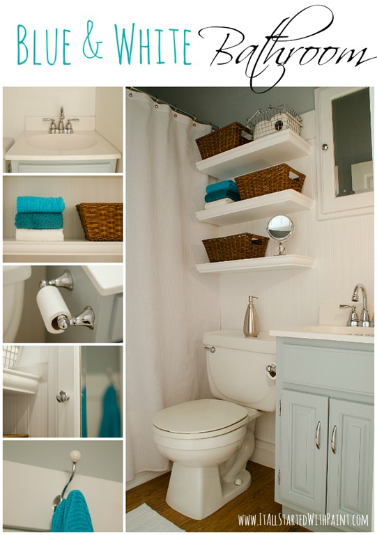 Blue and white bathroom small space solutions for I bathroom solutions