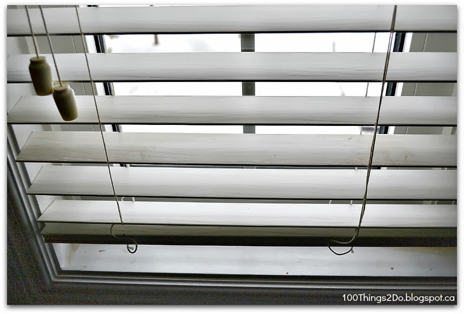how to clean greasy blinds