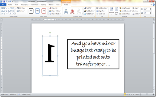 how-to-make-mirror-image-text-microsoft-word