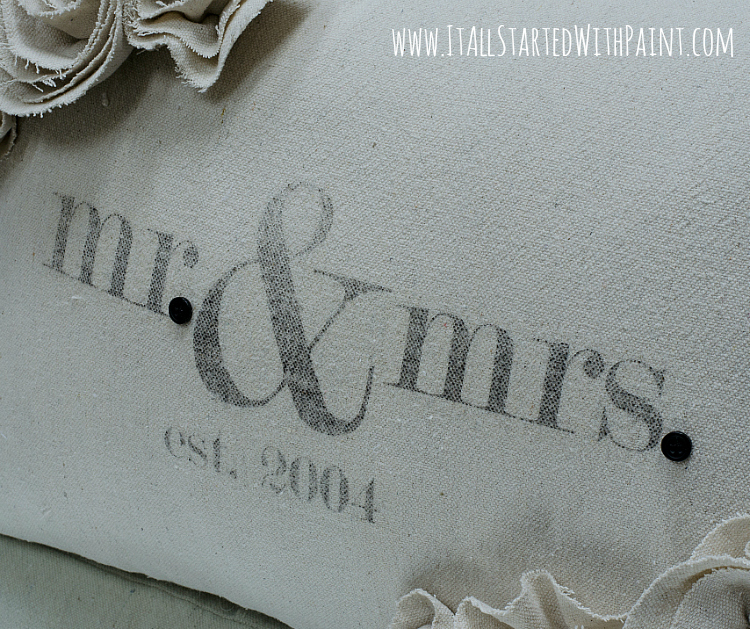 Mr Mrs Wedding Pillow