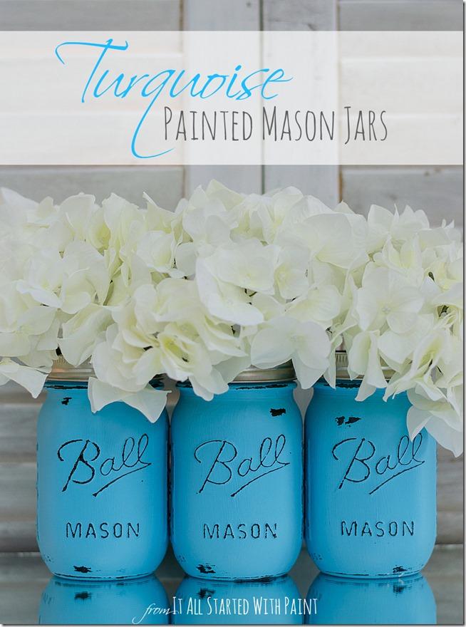 turquoise-painted-mason-jars-4 2