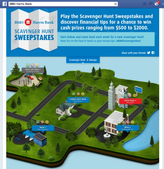 BMO scavenger hunt sweepstakes