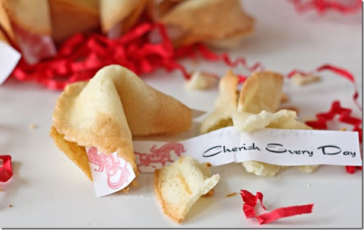 Fortune Cookie Shaped Cake