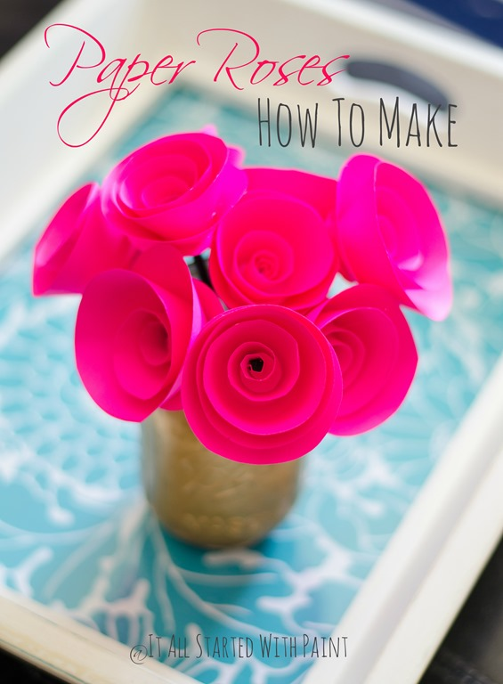 make paper roses