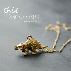 gold dinosaur necklace
