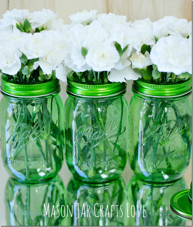 green-ball-mason-jars